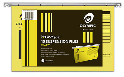 Olympic Easyglide Suspension File 10 Pack - Yellow