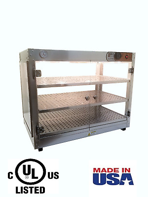 HeatMax 30x18x24 Commercial Food Warmer Pizza Pastry Patty Display Case