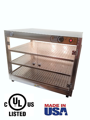 HeatMax 30x24x24 Commercial Food Warmer Pizza Pastry Patty Display Case