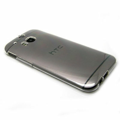 Crystal Clear Transparent Slim Soft Gel Case Cover For HTC One M8S New