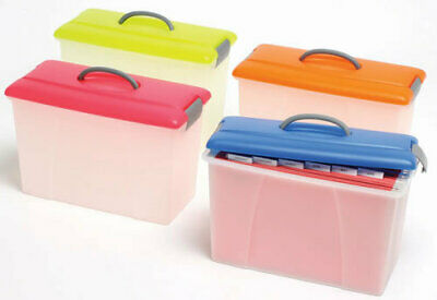 Crystalfile Carry Case 18 Litre Clear Base - Blue Lid
