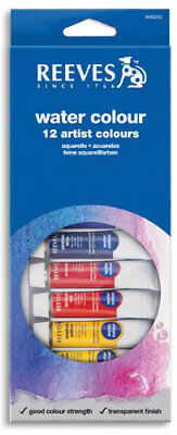 Reeves Watercolours Paints 12mL Tubes 12 Pack
