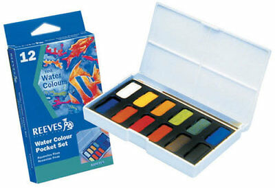 Reeves Watercolour Pocket Paint Set 12 Pack