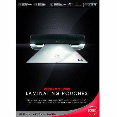 GBC A4 Laminating Pouches Signature 125mic - 100 Pack