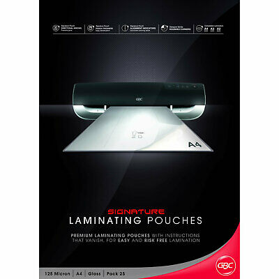 GBC Laminating Pouches Signature A4 125mic 25 Pack