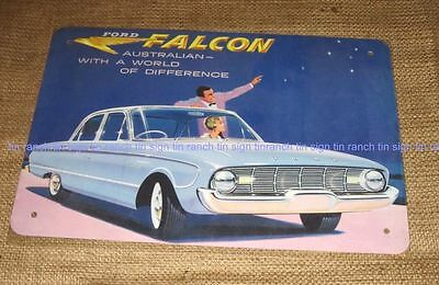 FORD FALCON TIN SIGN! 1960 XK Brochure Australian car New vintage style picture