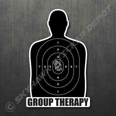 Group Therapy Gun Target Sticker Vinyl Decal Car Truck Bumper Sticker Molon Labe