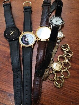 Bulk Watches Bulova Caravelle Pulsar Gucci Disney 6 In Total Watch Parts