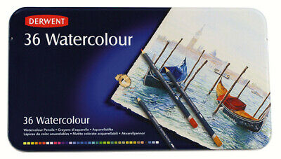 2 X Derwent R32885 Watercolour Coloured Pencils 36 Tin