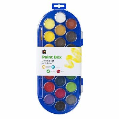 EC Educational Colours Paint Box 22 Disc And Brush - Assorted