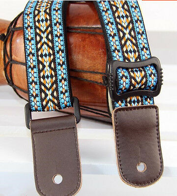 Super Quality Country Style Ukulele Shoulder Strap made of cotton and leather