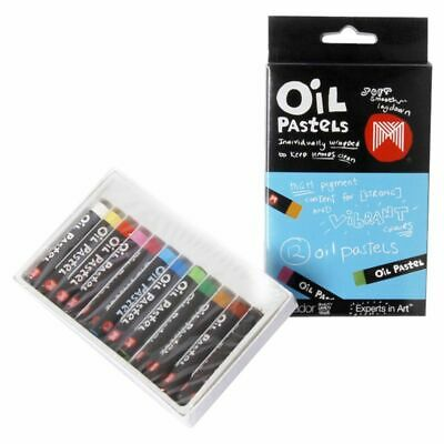 Micador Crayons Oil Pastels Small - 12 Pack