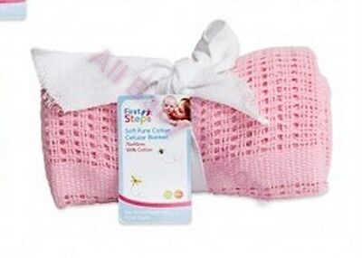 *New sale price* Cellular Baby Blanket 100% Cotton 75Cm x 100Cm  (PINK)