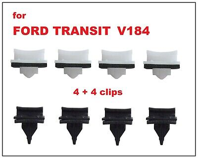 8 x FORD TRANSIT FRONT WINDSCREEN A PILLAR SIDE PLASTIC TRIM CLIPS V184