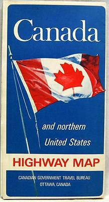 Canada Official Automobile Highway Road Map 1968 Vintage Travel & Tourism