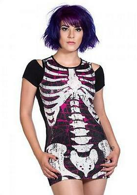 Banned Apparel Sequin Ribcage dress, alternative, Gothic, official merchandise