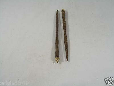 """2 pc,wood with brass top, Hair Pin, Size 6 """" (150 mm) long,"""