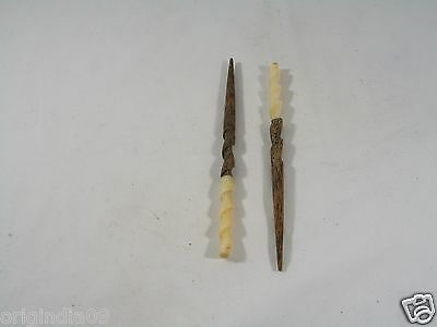 """2 pc,wood and bone top, Hair Pin, Size 6 """" (150 mm) long,"""
