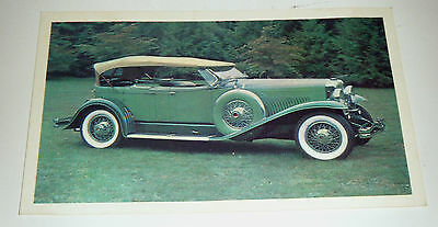 Vintage 1965 Sanitarium Oversize Collector Card - Picture & History Veteran Cars