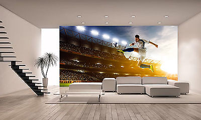 Soccer Player Wall Mural Photo Wallpaper GIANT DECOR Paper Poster Free Paste