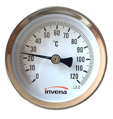 Solid Metal Industrial Temperature Gauge Dial Probe for water and Oil 1/2""