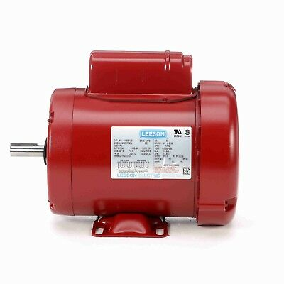 110087.00 3/4HP LEESON Electric Motor, Tefc, 1725 Rpm, 56 Frame, 1 Ph. 115/230V.