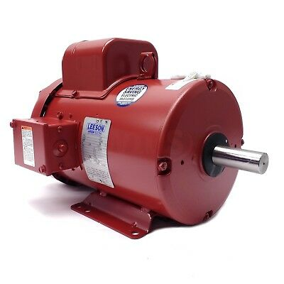 131542.00 3HP LEESON Electric Motor, Tefc, 1725 Rpm, 184T, 1 Ph. 230V. 131542