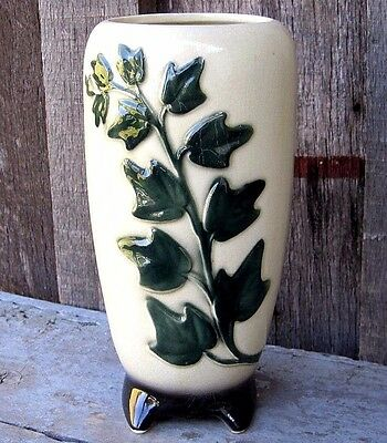 Vintage Mid Century Hand Painted Porceain Planter Pot Vase Antique Home & Garden
