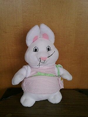 "Kids Preferred plush Max & Ruby  RUBY ONLY Bunny Rabbit 9"" seersucker dress"