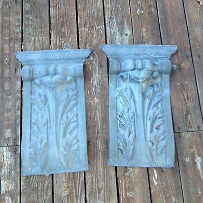 19th century Zinc Corbel Never Used Pair Gorgeous