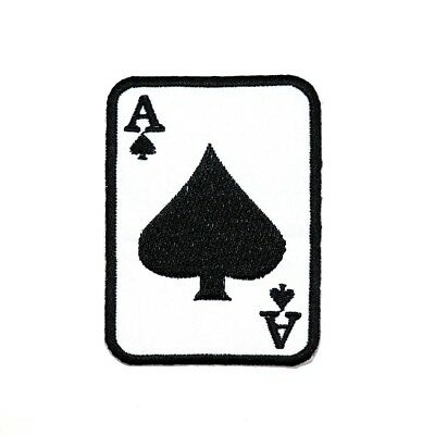 Poker Card Game Ace Casino Lucky Las Vegas Fabric Transfer Embroidery Iron patch