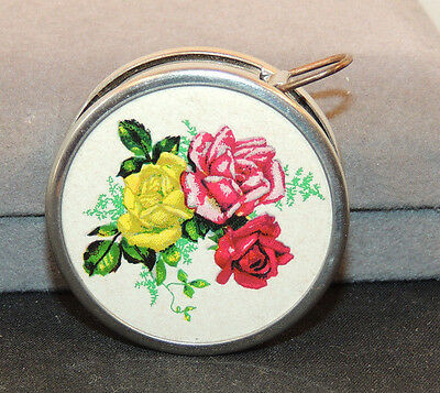 Flowers push button Tape Measure Western Germany (10119)