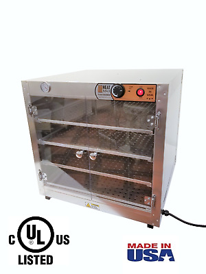 Commercial Food Warmer, HeatMax 24x24x24 Hot Box with Acrylic Doors Pizza Warmer