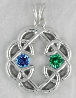 Celtic Knot Father And Daughter Cross Pendant Jewelry Sterling Silver MFC-SP2