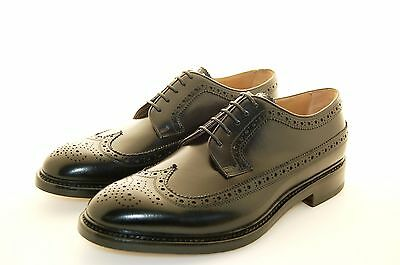 Man-Derby Wigtip W.perfs And Medallion.-Calf Black-Leather Sole
