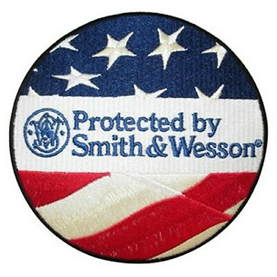 "Protected by ""Smith & Wesson"" Aufnäher Patch - Top! nur 9 Stück!"