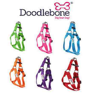 Doodlebone Bold Plain Nylon Dog Harnesses and lead  - Choice of Colours & Sizes