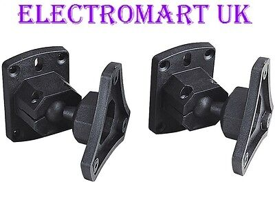 2pcs ABS plastic Black Universal Surround Sound Speaker Wall Mount Brackets F4U1