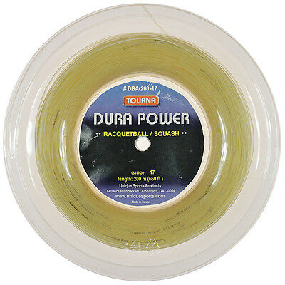 Tourna Dura Power Squash / Racquetball 17G String 200m Reel