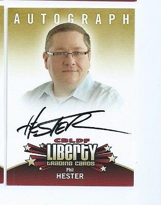 Cryptozoic CBLDF Liberty autograph Phil Hester