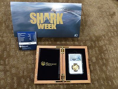 Ngc 2015 P Australia Gold $100 Great White Shark High Relief Pf 70 Ultra Cameo