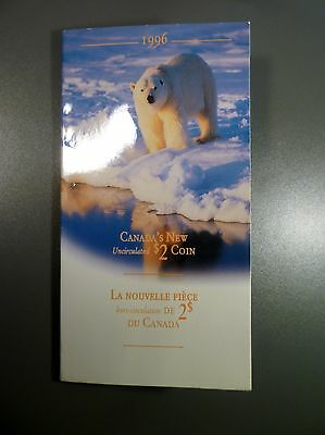 1996 Canada's New Uncirculated Two Dollar Coin In Sealed Card Display