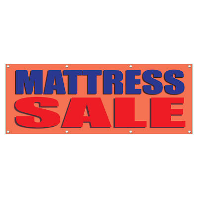 Mattress Sale Blue Red Business 13 Oz Vinyl Banner Sign With Grommets