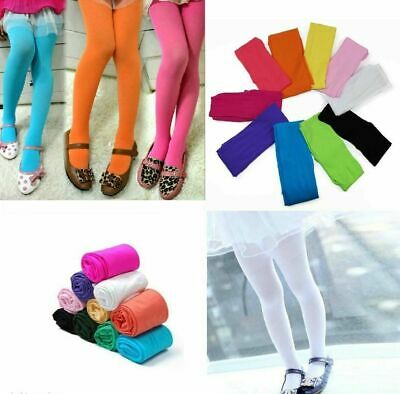 Girls Baby Kids Tights  Pantyhose Stockings Pants Black White Pink Blue Yellow