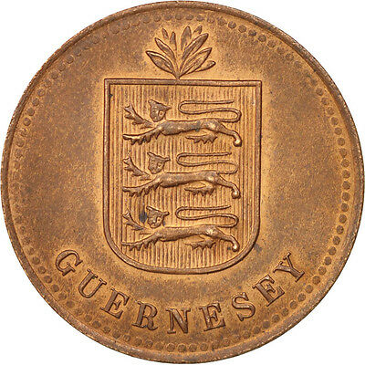 [#406385] Guernsey, 4 Doubles, 1920, Heaton, MS(60-62), Bronze, KM:13