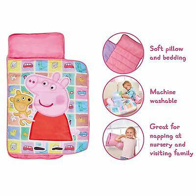 Kids Sleepover Set Junior Cosy Wrap Pillow PeppaPig Ready Bed Comfy Nap Soft Toy