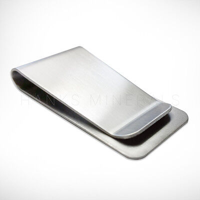 Stainless Steel Money Clip Silver Metal Pocket Holder Wallet Credit Card USA