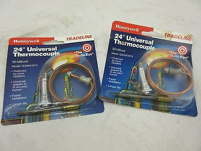 "New Lot Of 2 Honeywell Q340A 1074  24"" Universal Thermocouple"