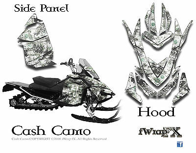 Ski-Doo sled Wrap Rev XP MXZ 2008-2013 sled decal kit Cash Camo