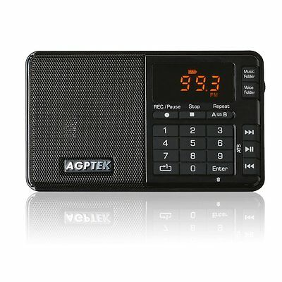 AGPTek R08 Mini formato MP3 player, FM Radio e registratore vocale/Radio